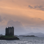 15. Märts 2019 - 19:01 - Castle stalker on the west coast of Scotland as sunset approaches