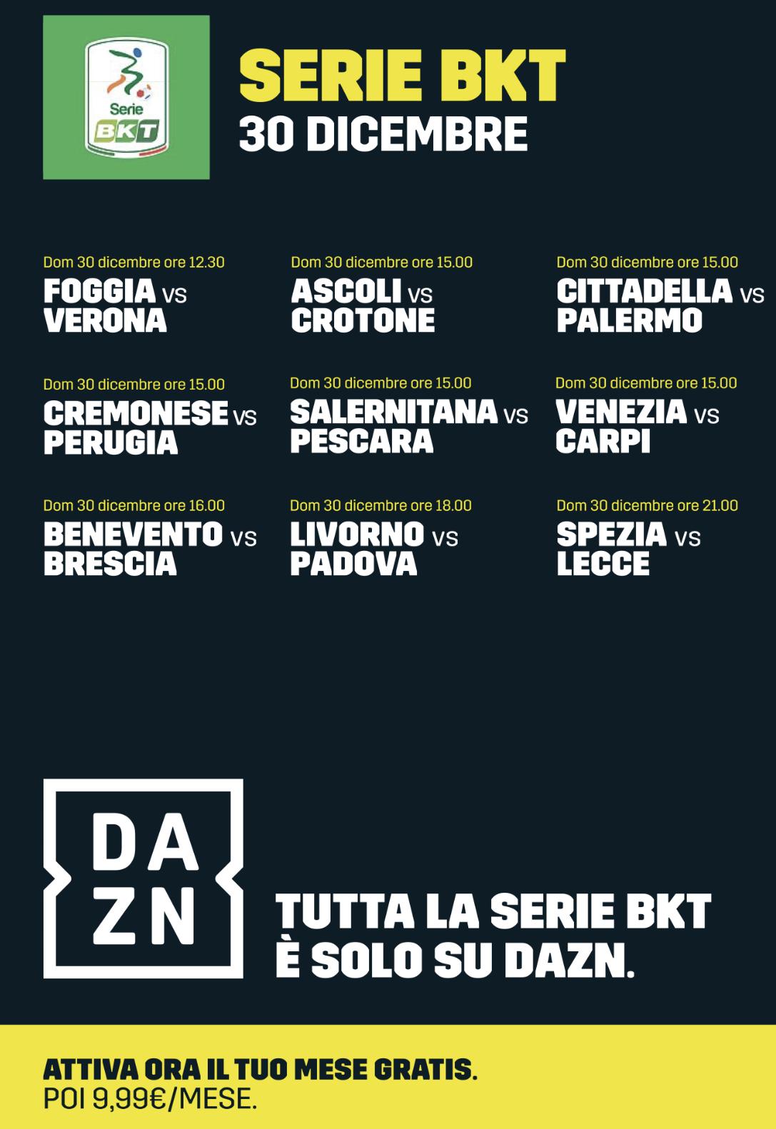 Calendario Cremonese.Serie Bkt Il Calendario Completo Dell Ultima Giornata Del