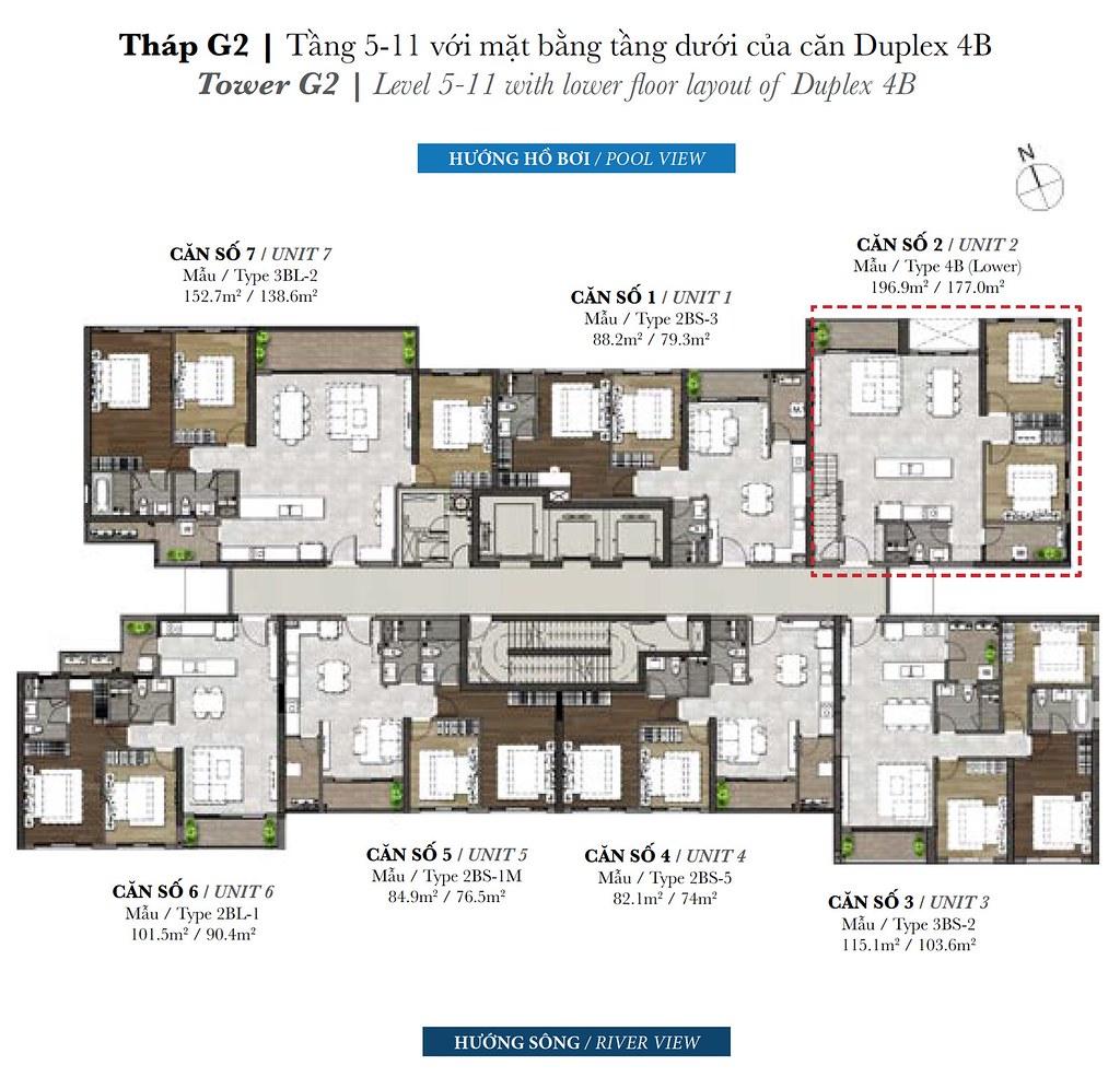 tháp G2 tầng 5-11