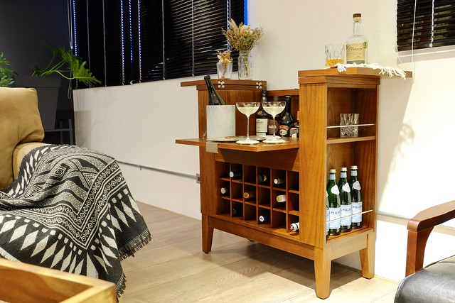 Crate and Barrel Parker Spirits Bourbon Cabinet