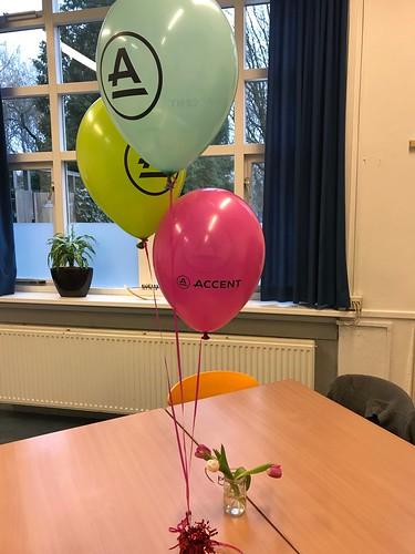 Tafeldecoratie 3ballonnen Accent VSO Rotterdam Noord