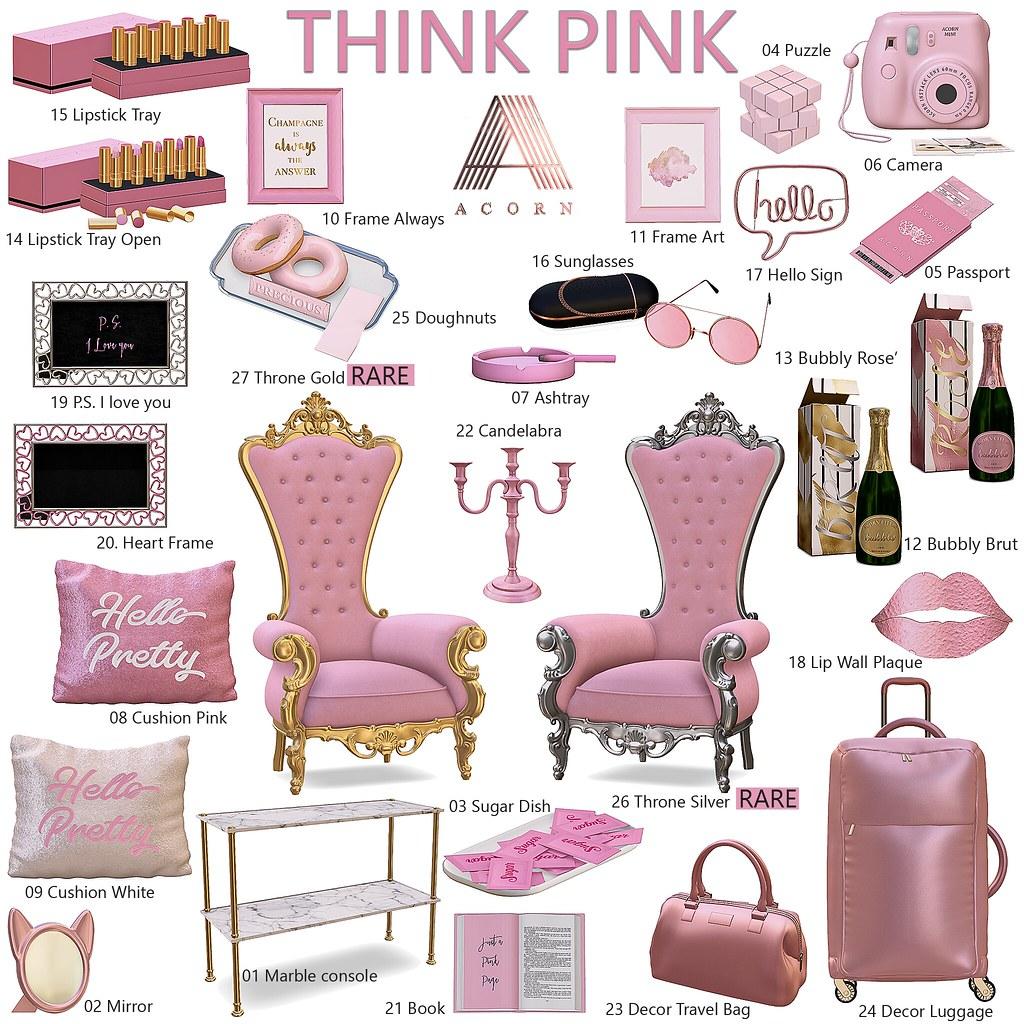 ACORN Think Pink Gacha Set