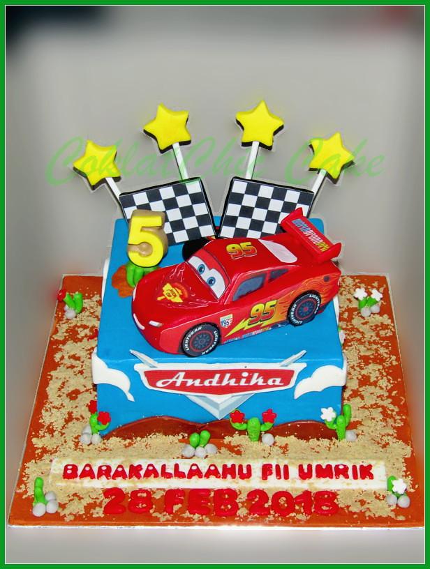 Cake Disney Cars McQueen ANDHIKA 15 cm