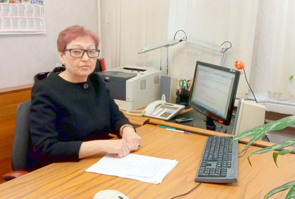 Галина Алексеевна Исаева, начальник отдела программ занятости Ярцевского Центра занятости населения