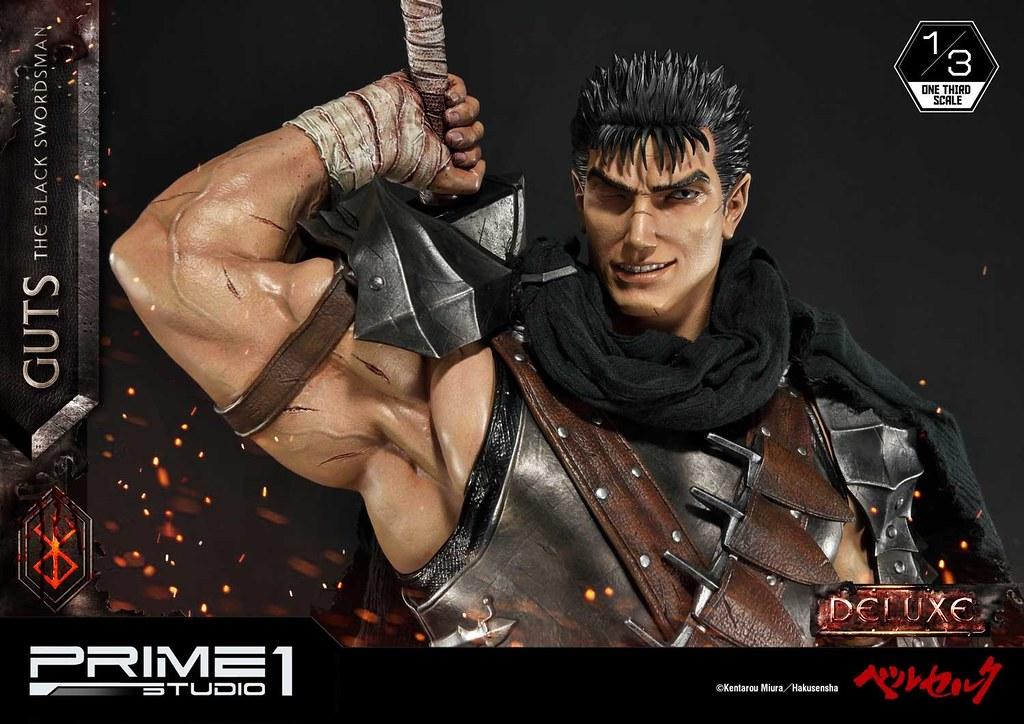 以更具魄力的尺寸與氣勢再歸來!! Prime 1 Studio《烙印勇士》凱茲(黑衣劍士) ガッツ(黒い剣士) MMBR-01 1/3 比例全身雕像作品 普通版/DX版