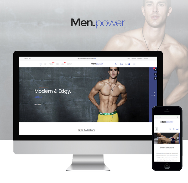 Ap Men Power Hot Underwear Fashion Prestashop Theme - Unisex men fashion