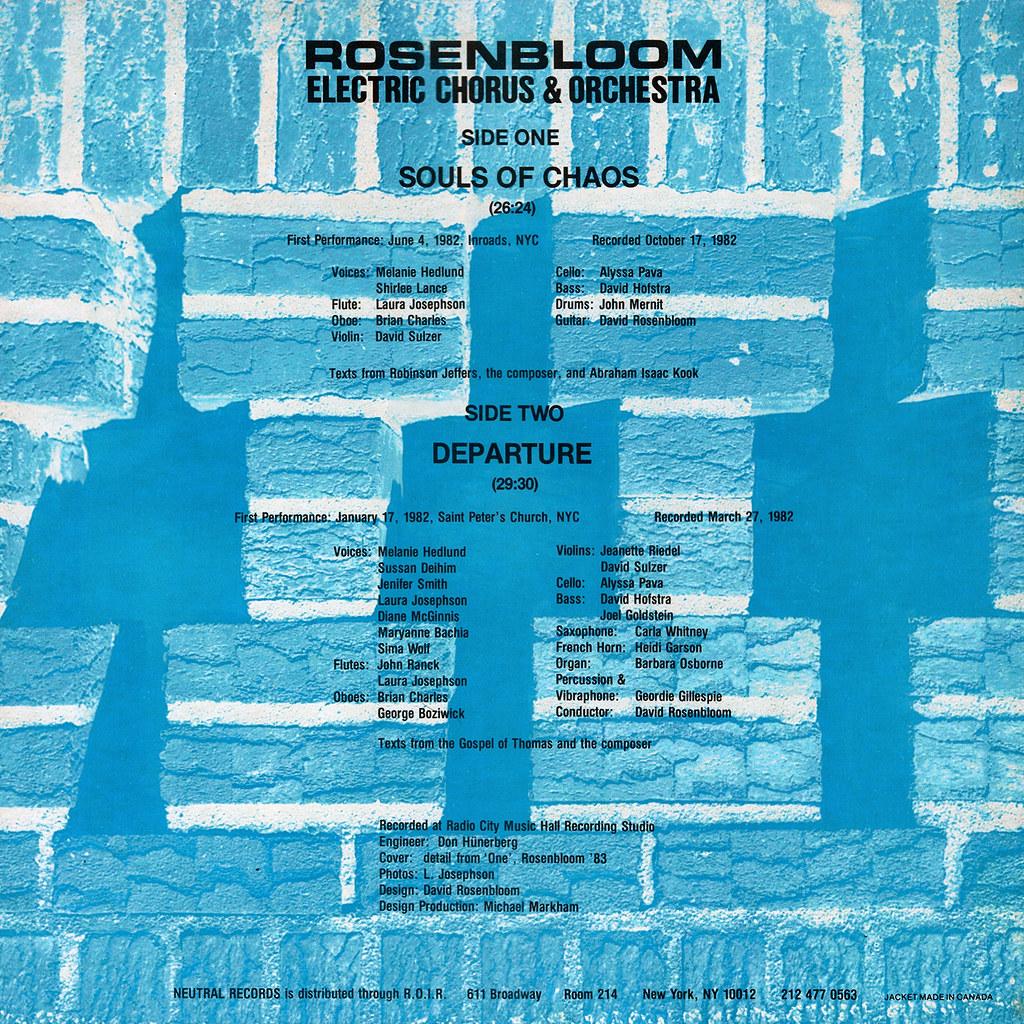 David Rosenbloom - Souls of Chaos