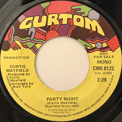 CURTIS MAYFIELD:PARTY NIGHT(LABEL SIDE-B)