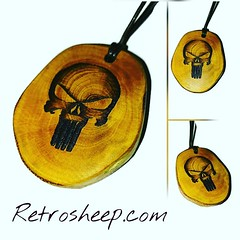 #thepunisher #name just made #necklace Wooden Jewellery www.Retrosheep.com Handmade Wooden Personalised Gift Handmade Charm Necklace #amazonhandmade #Retrosheep #Personalised #Gifts FIND US ON AMAZON HANDMADE @amazonhandmade @ebay_uk @etsyuk @retrosheep h