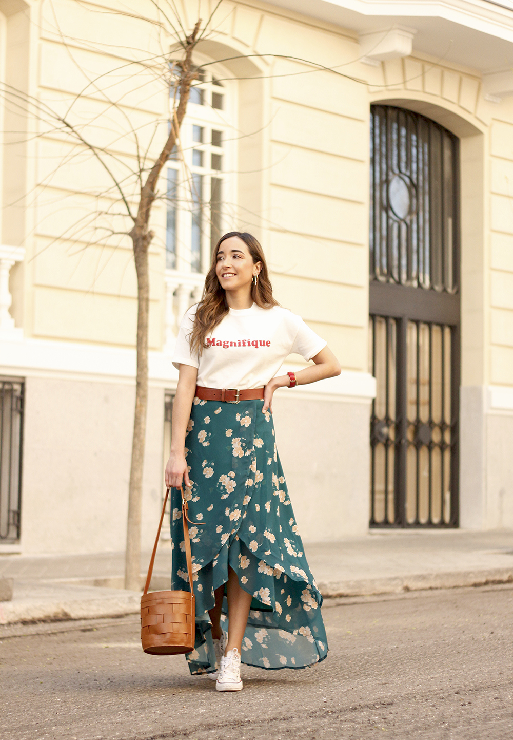 floral maxi converse skirt tshirt find amazon fashion street style outfit 20191