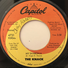 THE KNACK:MY SHARONA(LABEL SIDE-A)