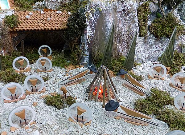 les bergers autour du feu