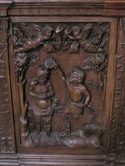 20080519 25963 Jakobus Montreal Kirche Holzschnitzerei Taufe Jesus Johannes - Photo of Marmeaux