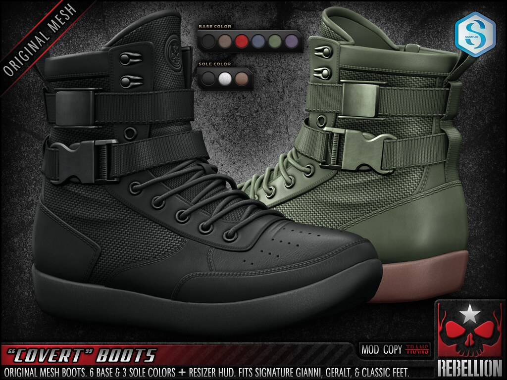 "= REBELLION = ""COVERT"" BOOTS"