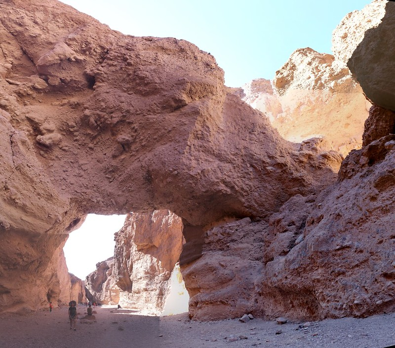 Panorama view of the Natural Bridge in Death Valley