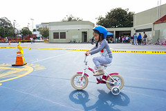 girl with training wheels