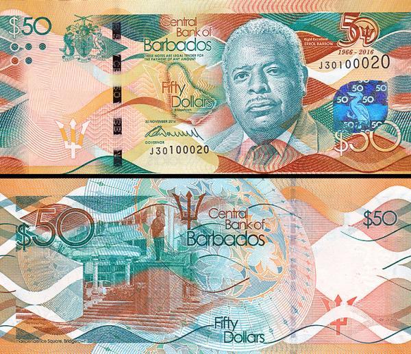 50 dolárov Barbados 2016 P79