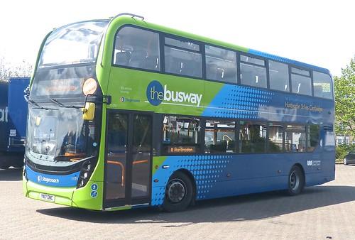 YN17 ONC 'Stagecoach East' No. 15293 'the busway'. Scania N250UD / 'ADL' Enviro 400MMC on Dennis Basford's railsroadsrunways.blogspot.co.uk'