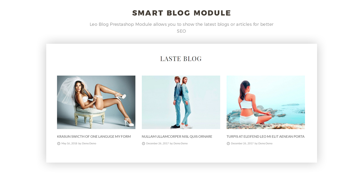 smart blog module - Women Fashion and Lingerie Store
