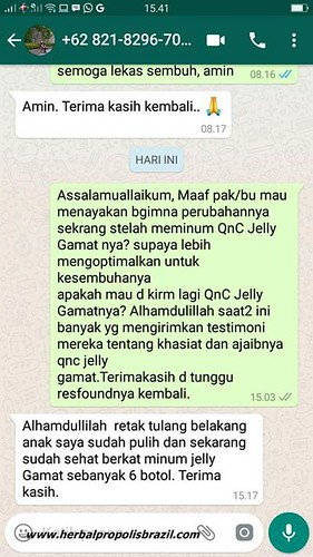 Testimoni QnC Jelly Gamat Sebagai Obat Ligamen Robek