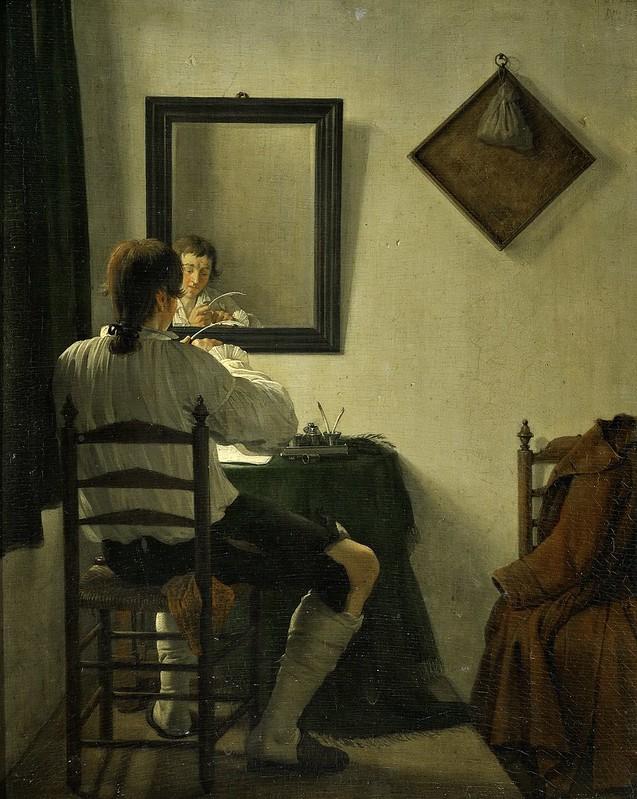 Jan Ekels II - A Writer trimming his pen (1784)