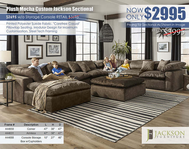 Plush Mocha Jackson Furniture Custom Sectional_4446_ju1603