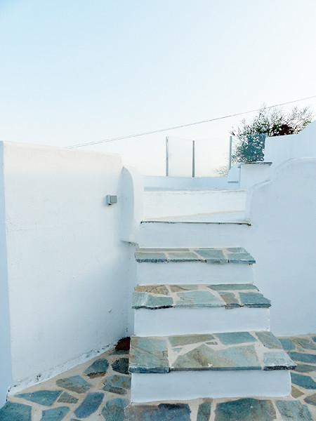 les escaliers de la terrasse