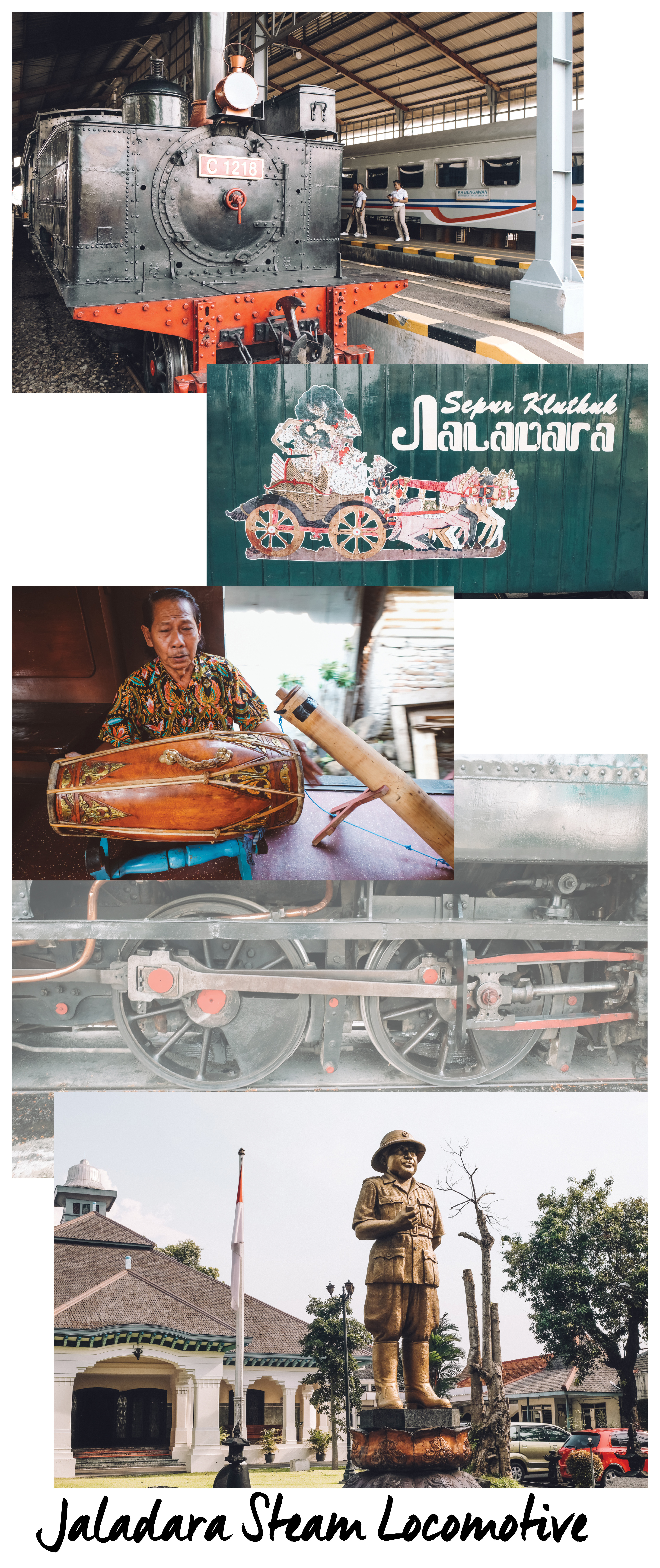 Trains are pars for course to travel in Indonesia