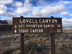 Lovell Canyon 01.2019