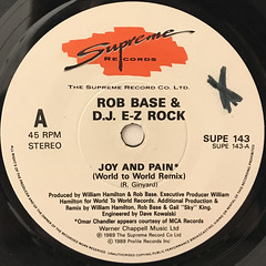 ROB BASE & DJ E-Z ROCK:JOY AND PAIN(LABEL SIDE-A)