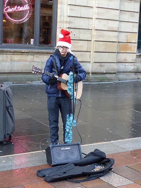 jeune musicien écossais