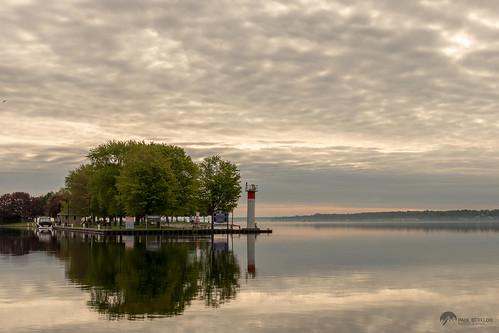 brockville ontario harbour morning sky cloud clouds hardy park