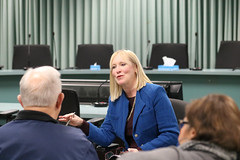 Rep. Hall hosts town hall meeting in Enfield