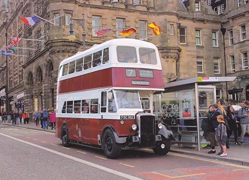 FSC 182 'Edinburgh Corporation Transport' No. 135. Daimler CVG6 / Metropolitan Cammell Carriage & Wagon Co. on Dennis Basford's railsroadsrunways.blogspot.co.uk'