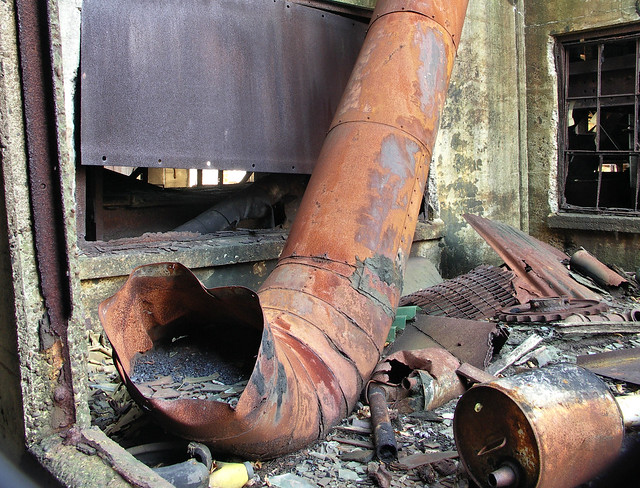 pipe with coal