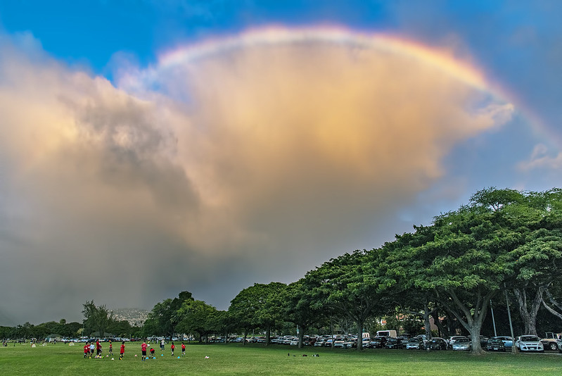 Moments before soccer practice got rained out