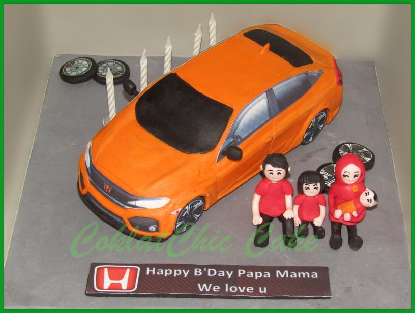 Cake Mobil Honda Civic Family 20 cm