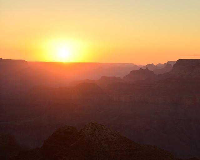 Uno de los mejores miradores para ver atardecer en el Gran Cañón