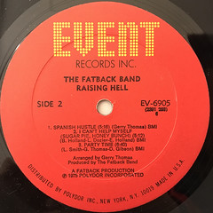 THE FATBACK BAND:RAISING HELL(LABEL SIDE-B)