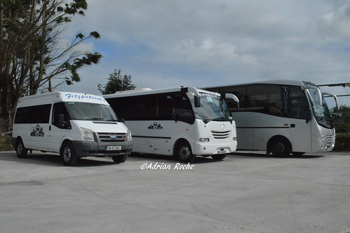 Fitzpatrick's Of Listowel Mercedes 1523L Touring (07-KY-2748), Mercedes Eurocoach LX 29 (07-KY-10342) & Ford Transit (08-KY-1295).