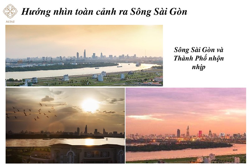 huóng view nhìn ra sông Saigon