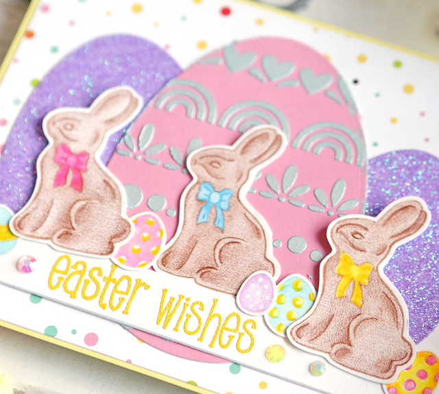 easter wishes close up
