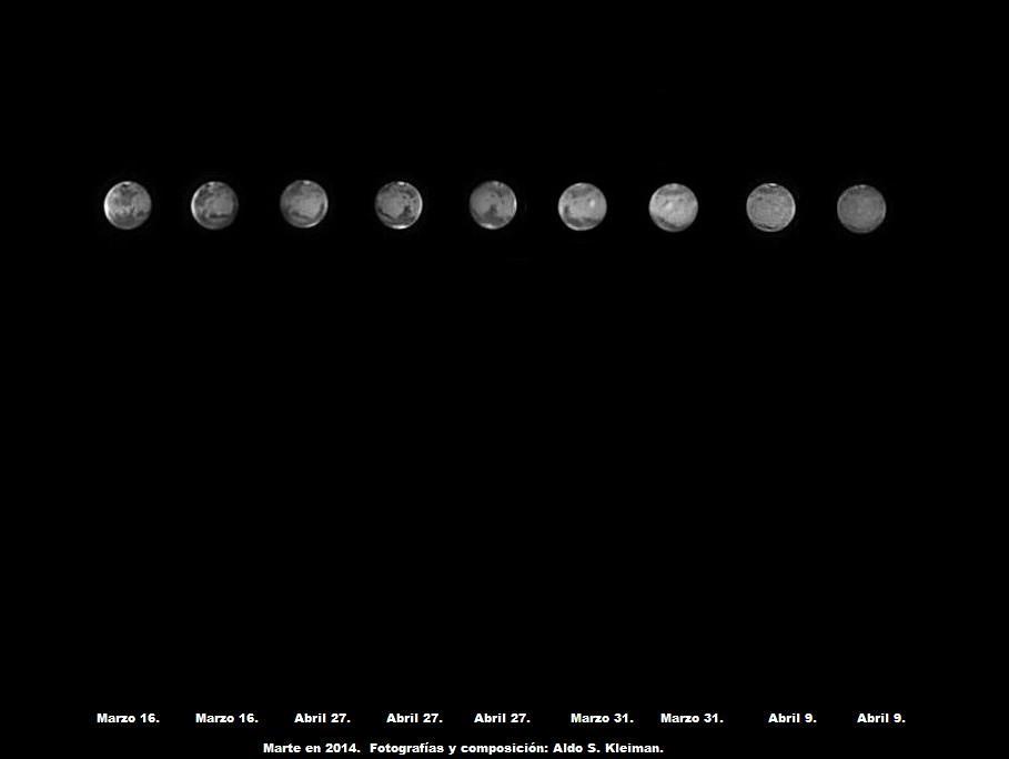Rotación de Marte en 2014