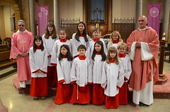 Altar Servers In Their New Robes