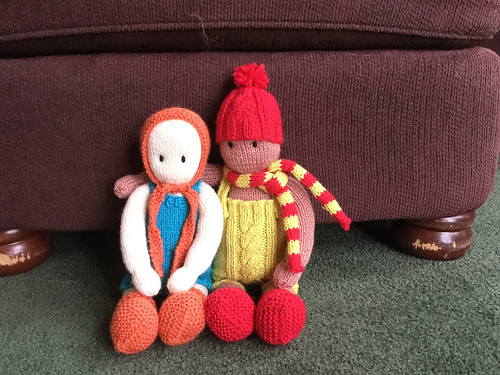 Debbie made these dolls for her granddaughters using Bergere de France Ideal