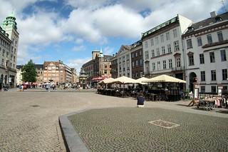 Street terrace in Copenhagen, Denmark
