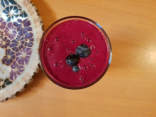 Blueberry Beet Smoothie from Grateful Grazer blog