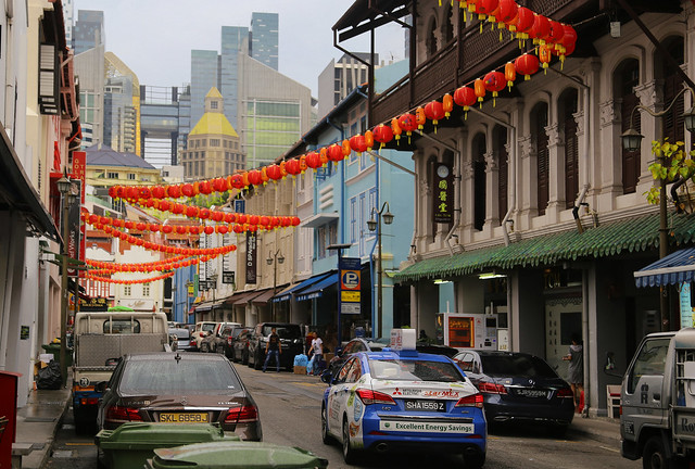 Singapore's China Town a  blend of old and new