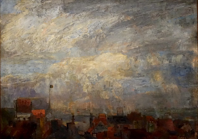 James Ensor 'The Rooftops of Ostend'