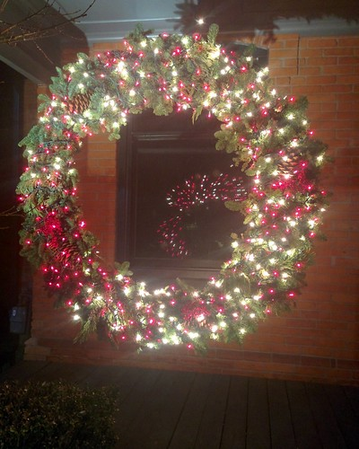 Wreath mirrored #toronto #pacificave #highparknorth #christmas #wreath
